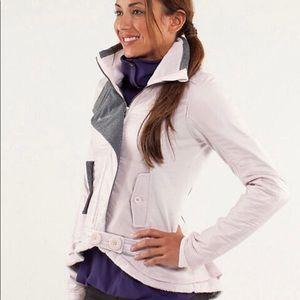 EUC Lululemon Pedal Power Blush and Gray Jacket
